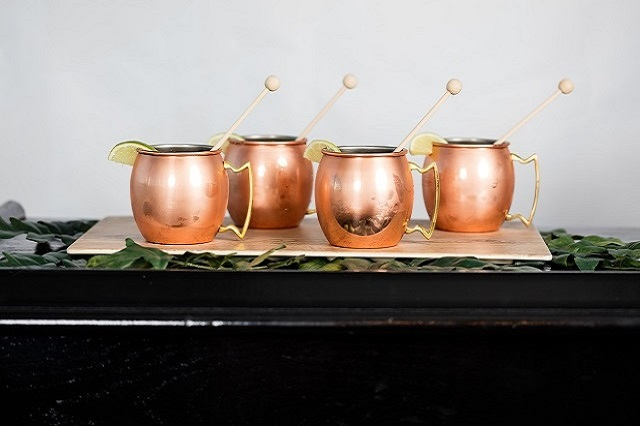 Moscow Mule Mugs - Photo by Frozen Exposure