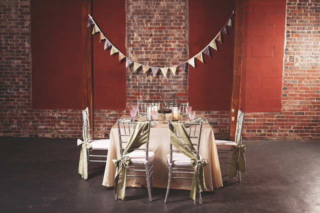 Elegant Tablescape at Depot Square - Photo by Kyle Gregory
