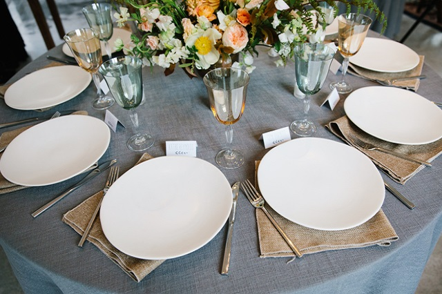Modern Vintage Events Tablescape - Gray Kammera Photography