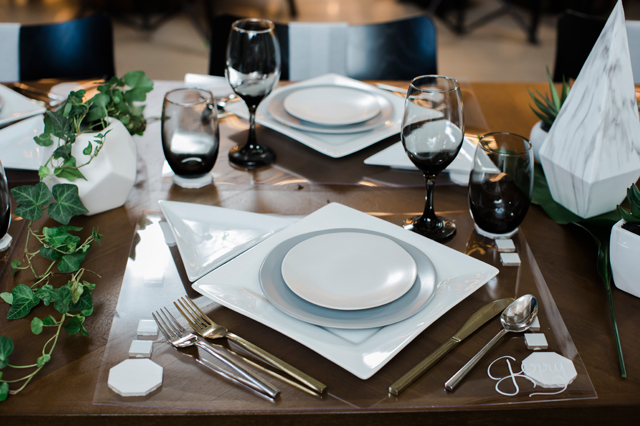 Place Setting at 21c Museum Hotel - Abigail Volkmann Photography