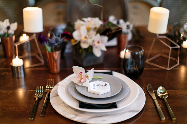Place Setting at Arrington Vineyards - Erin Lee Allender Photography