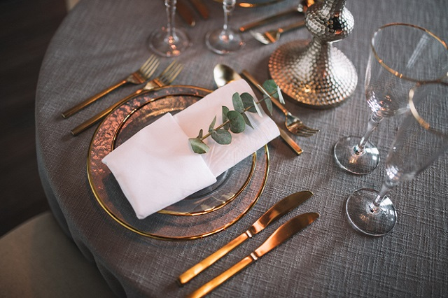 Place Setting at The Quarter - Details Nashville Photography