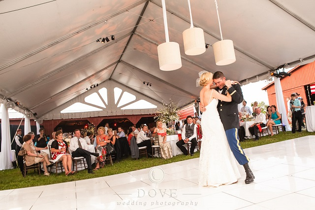 White Acrylic Dance Floor - Photo by Dove Photography