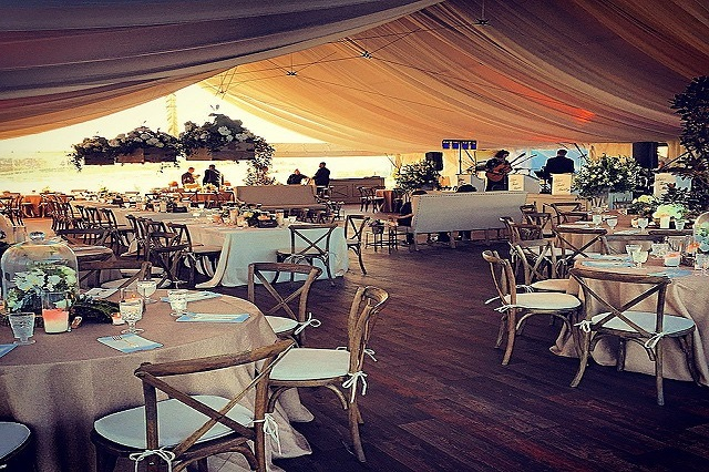 H Three Events Tented and Floored Farm Wedding