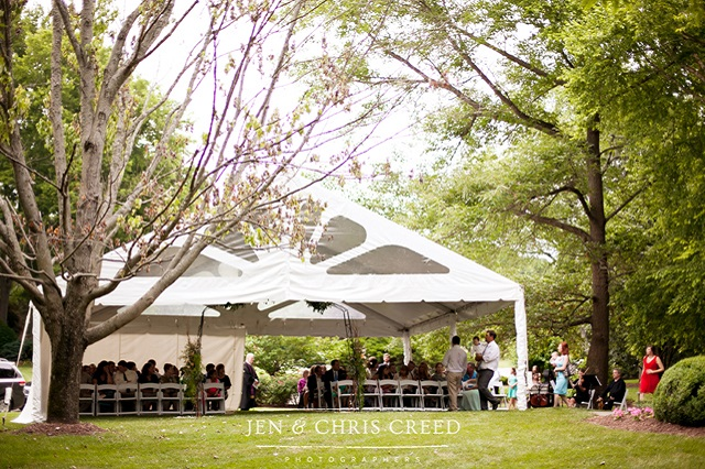 Outdoor Tented Wedding - Photo by Jen and Chris Creed