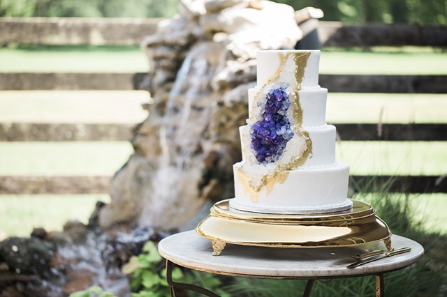 Gold Cake Stand - Photo by Frozen Exposure