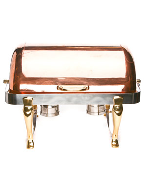 Where to find Chafer, 8 qt. RECT. Silver Copper Roll in Nashville