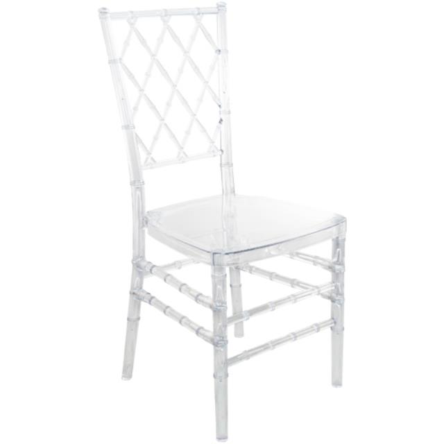 Where to find Chair, Lattice Back Clear Resin in Nashville