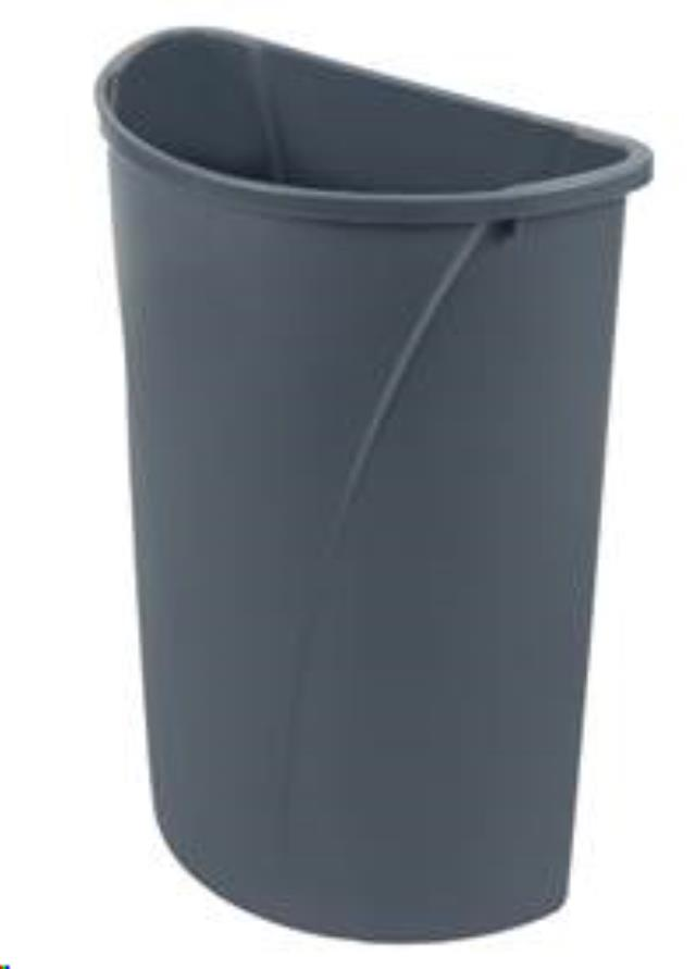 Where to find Trash Can, Half Round 21 Gal. With Liner in Nashville